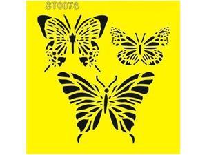 """Στένσιλ πλαστικό """"Πεταλούδες"""" 16x16εκ."""