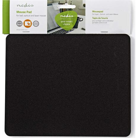 Mousepad Nedis 18x22cm Black MPADF100BK-0618