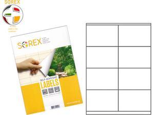 Ετικέτες αυτοκόλλητες SOREX 105x70mm