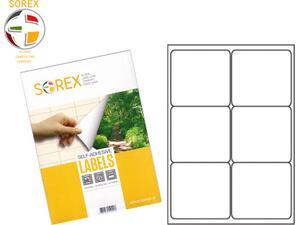 Ετικέτες αυτοκόλλητες SOREX 2x3 99.1x93.1