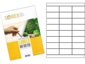 Ετικέτες αυτοκόλλητες SOREX 70x50.8mm