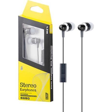 Ακουστικά MTK με μικρόφωνο μαύρα