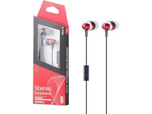 Ακουστικά MTK με μικρόφωνο κόκκινα