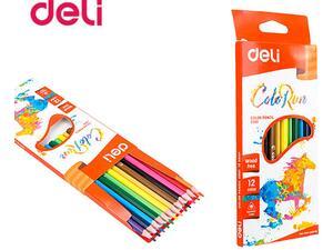Ξυλομπογιές Deli COLORUN (συσκευασία 12 χρωμάτων)