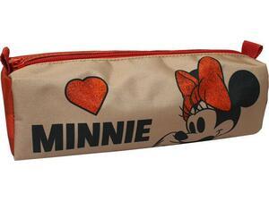 Κασετίνα βαρελάκι GIM Minnie Suede (340-47140)