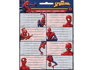 Σχολικές ετικέτες GIM Spiderman (συσκευασία 16 ετικετών) (777-51746)