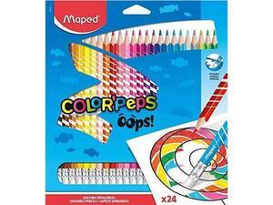 Ξυλομπογιές με γόμα MAPED Color'Peps Oops πακέτο 24 τεμαχίων (832824)