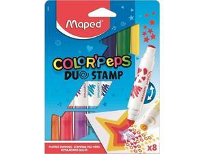Μαρκαδόροι Maped Color'Peps διπλοί με σφραγίδα 8 Χρώματα