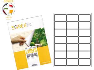 Ετικέτες αυτοκόλλητες SOREX 63.5x38.1 mm