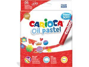 Λαδοπαστέλ CARIOCA Super Soft (24 τεμάχια) (Διάφορα χρώματα)