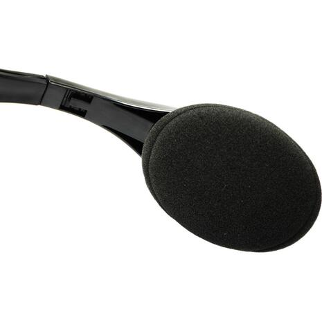 Ακουστικά Powertech με μικρόφωνο PT-734 105dB, 40mm, 3.5mm, 1.8m, black