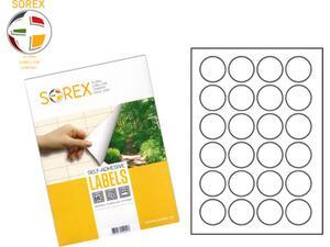 Ετικέτες αυτοκόλλητες SOREX A4 Φ40mm