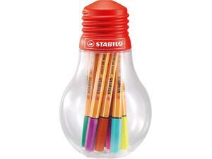 Μαρκαδόροι Stabilo 88 mini bulb 12 τεμαχίων