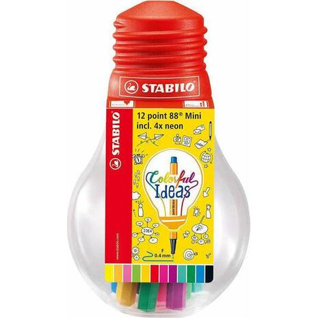 Μαρκαδόροι Stabilo 88 mini bulb 12 τεμαχίων (Διάφορα χρώματα)