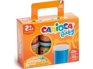 Δακτυλομπογές Carioca baby 6 τεμαχίων 80ml KO032