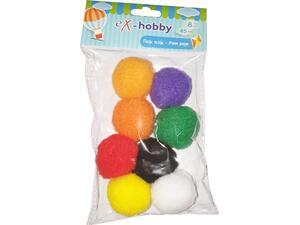 Σφουγγαράκια pom-pom eX-HOBBY 4,5cm συσκευασία 8 τεμαχίων