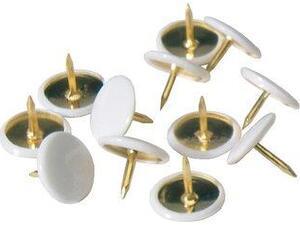 Πινέζες πλαστικές ALCO 151-10 λευκές συσκευασία 100 τεμαχίων