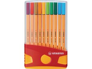 Μαρκαδόροι Stabilo Point 88 0.4mm Color Parade 20 τεμαχίων
