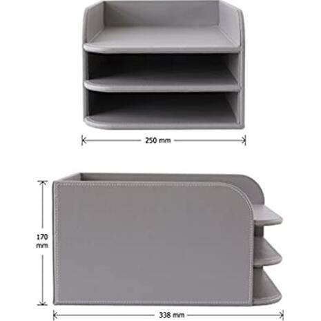 Συρταριέρα OSCO γκρι δερματίνη 3 θέσεων (Γκρι)