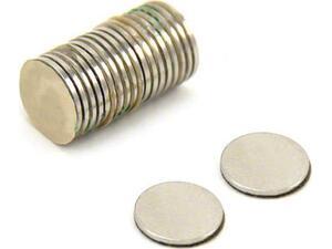 Μαγνήτες νικελ στρογγυλοί Ø6χιλ.x 2χιλ. συσκευασία 100 τεμαχίων