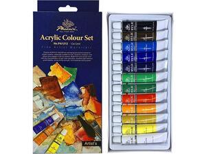 Σετ ακρυλικά χρώματα Phocnix 12 χρωμάτων 12ml