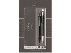 Σετ κασετίνα δώρου Πένα & Στυλό PARKER I.M. Duo LQ Black CT (FB-BP)