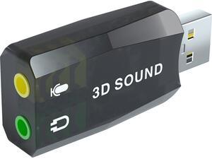 Κάρτα ήχου POWERTECH USB 5.1CH, 2.0V, με έξοδο μικρόφωνου και ακουστικού