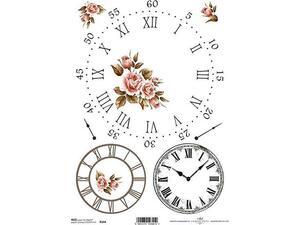 """Ριζόχαρτο για Decoupage  """"clocks 1"""" 21x29εκ"""
