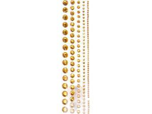 Στρας αυτοκόλλητα σε χρώμα χρυσό (130 τεμάχια)
