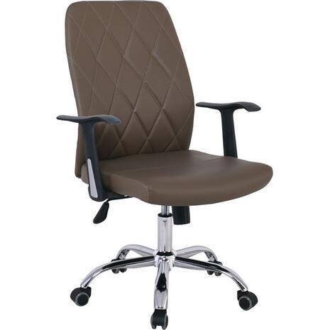 Πολυθρόνα γραφείου Διευθυντή BF1450  PU Cappuccino [Ε-00022056] ΕΟ246