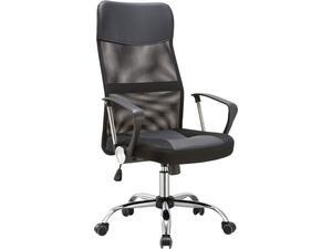 Πολυθρόνα γραφείου διευθυντή  BF2400 Pvc & Mesh Μαύρο