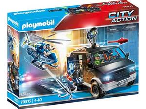 Playmobil Αστυνομικό Ελικόπτερο Και Ληστές Με Βαν 70575