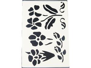 Στένσιλ A4 πολυπροπυλένιου τριαντάφυλλο