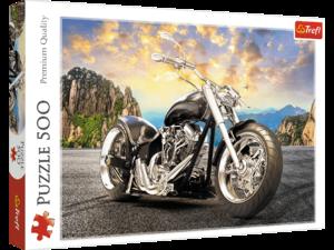 Πάζλ Trefl Black Motorcycle 500 τμχ 48Χ34cm