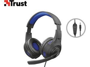 Ακουστικά Ενσύρματα gaming H/Y Τrust Ziva Mαύρο/Μπλε
