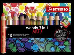 Μολύβια Art Woody  Stabilo (10τεμ) + ξύστρα 880/10-1-20