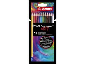 Ξυλομπογιές Stabilo Aquacolor Arty (12τεμ) 1612/1-20