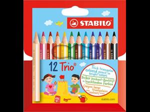 Ξυλομπογιές Stabilo mini trio (12τεμ)