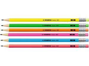 Μολύβι γραφίτη Stabilo Neon 4907 2B σε διάφορα χρώματα