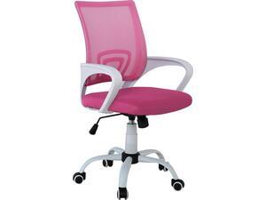 Kαρέκλα γραφείου Mesh 'Aσπρη - Ρόζ BF2101-S E-00017015(ΕΟ254,7S) (Ροζ)