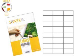 Ετικέτες αυτοκόλλητες SOREX 70x42.3mm (Λευκό)