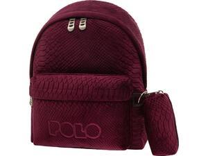 Σακίδιο πλάτης 1+1 θέσεων POLO Limited Edition mini μπορντώ (9-07-168-3300 2021)