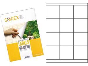 Ετικέτες αυτοκόλλητες SOREX 70x67.7mm (Λευκό)