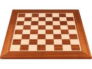 Ξύλινη Χειροποίητη Σκακιέρα WB50M- Μαρκετερί Μαόνι - Δρυς 50x50cm (WB50M)
