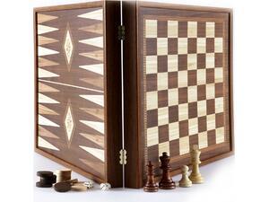 Τάβλι - Σκάκι  Combo - Κλαδί Ελιάς 41x41cm (STP36E)