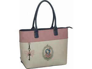 Τσάντα ώμου Santoro Mirabelle Flora μπεζ (343-00207)