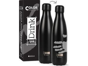 Μπουκάλι θερμός i drink id0044 change colors bottles 500ml black/grey