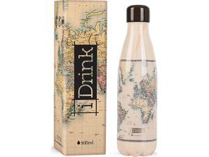 Μπουκάλι θερμός i drink id0008 therm bottle 500ml old map