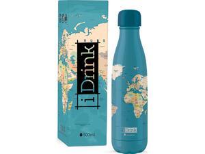 Μπουκάλι θερμός i drink id0092 therm bottle 500ml blue map