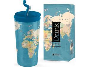 Kούπα i drink id0217 travel mug 350ml blue map